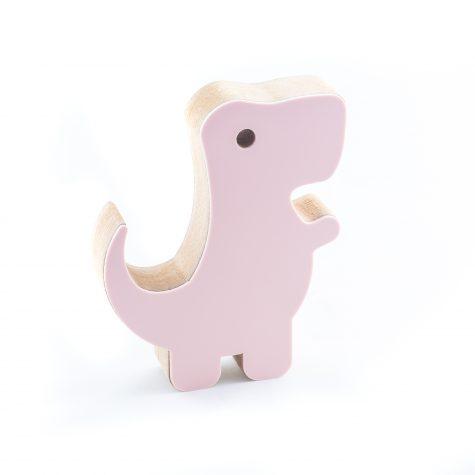 Dinossauro Rex Rosa