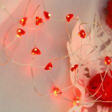 Cordão de Luz Coração Vermelho