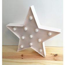 Luminária estrela branca