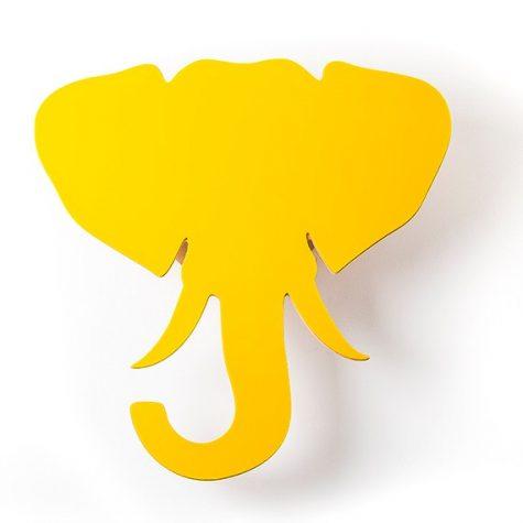 Adorno de Parede Cabeça Elefante Amarelo