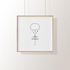 Arte Digital – Chuva de Cores