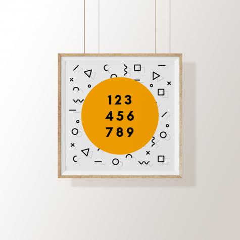 Arte Digital – Memphis & Números