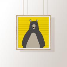 Arte Digital – O Urso Amarelo