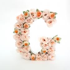 Letra Floral G