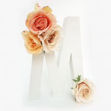 Letra Floral M