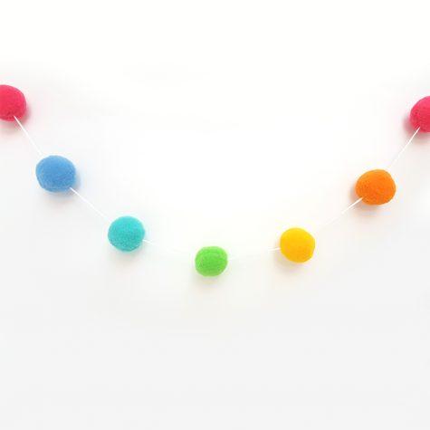 Varal de Pompom Colorido G